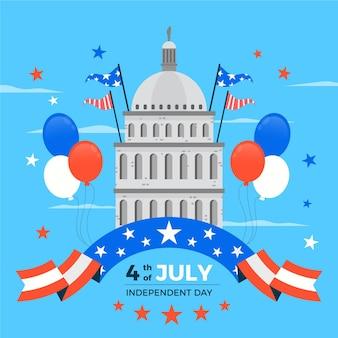 Disegno dell'illustrazione di festa dell'indipendenza