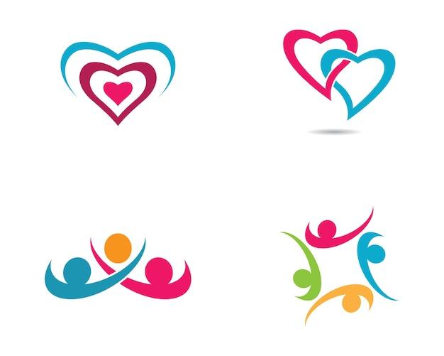 Disegno dell'illustrazione di simbolo di cura della comunità