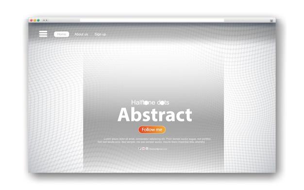 Disegno dell'interfaccia web estratto