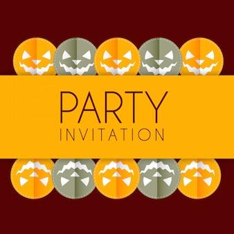 Disegno dell'invito della festa di halloween