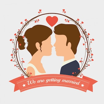 Disegno dell'invito di nozze