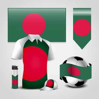 Disegno della bandiera del bangladesh
