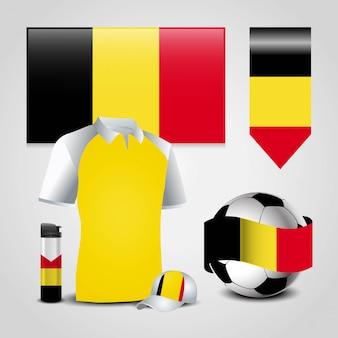 Disegno della bandiera del belgio