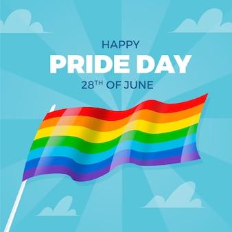 Disegno della bandiera del giorno dell'orgoglio