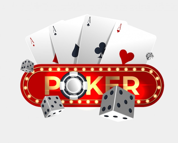 Disegno della carta da poker del casinò