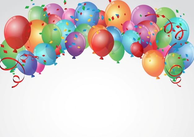 Disegno della carta di compleanno celebrazione