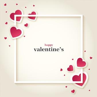 Disegno della carta di san valentino dolce