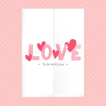 Disegno della carta di san valentino