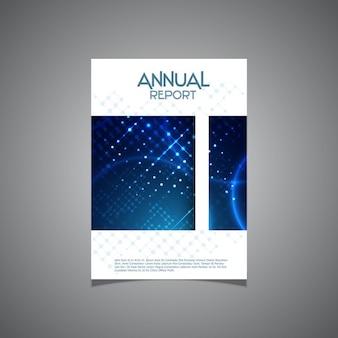 Disegno della copertura moderna per una relazione annuale aziendale