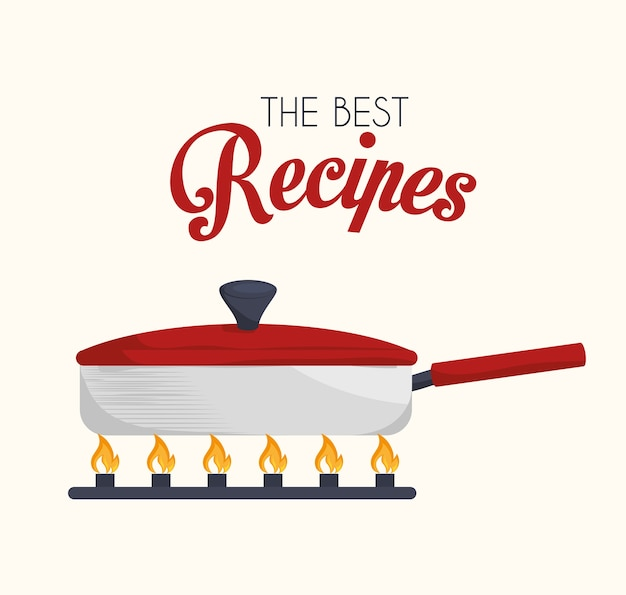Disegno della cucina, illustrazione vettoriale.