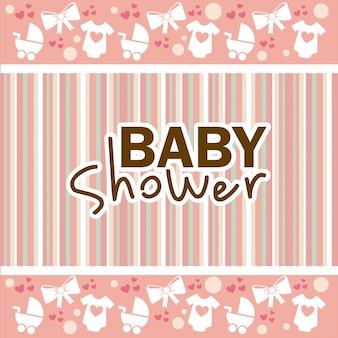 Disegno della doccia di bambino su sfondo lineal
