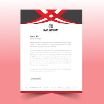 Disegno della lettera di lettera rossa e nera