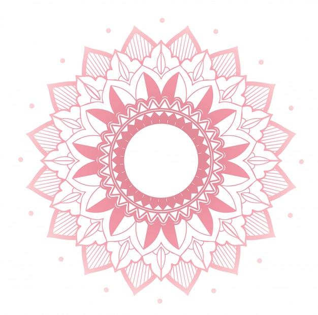 Disegno della mandala su colore rosa