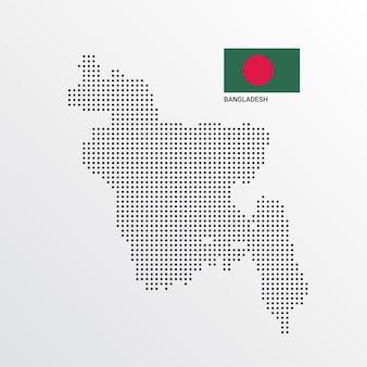 Disegno della mappa del bangladesh