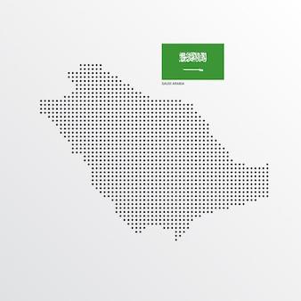 Disegno della mappa dell'arabia saudita