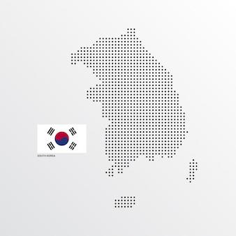 Disegno della mappa della corea del sud