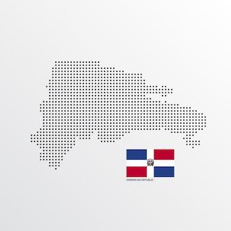 Disegno della mappa della repubblica dominicana