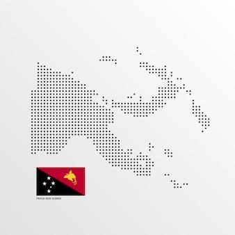 Disegno della mappa di papua nuova guinea