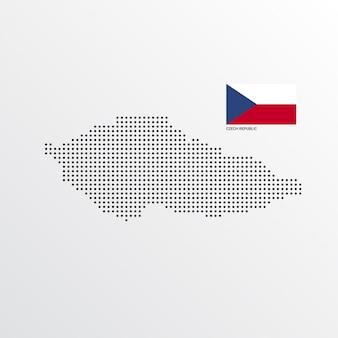 Disegno della mappa repubblica ceca