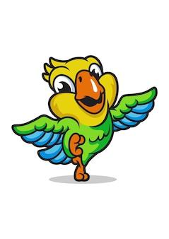 Disegno della mascotte del pappagallo