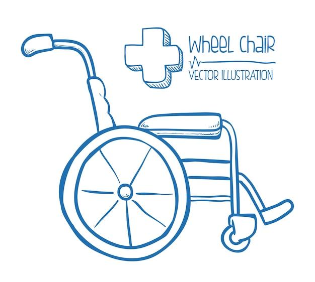 Disegno della medicina sopra illustrazione vettoriale sfondo grigio