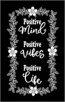 Disegno della mente positivo