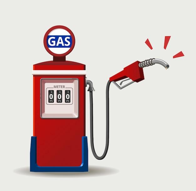 Disegno della stazione di benzina