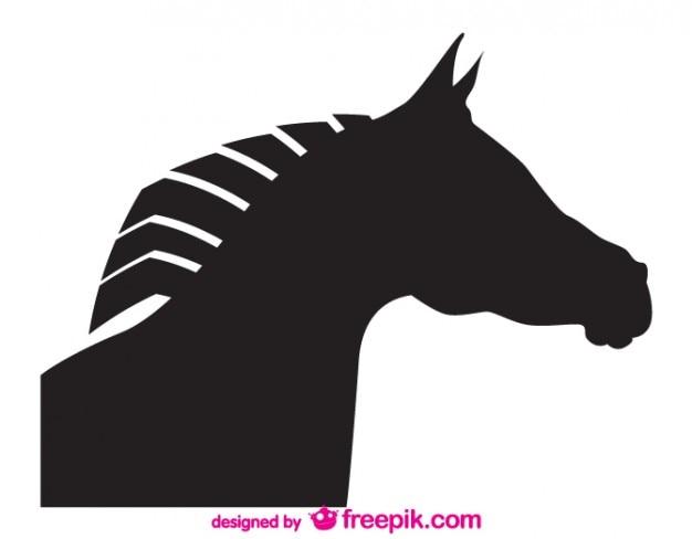 Disegno della testa di cavallo vettore silhouette
