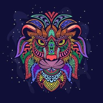 Disegno della testa di leone
