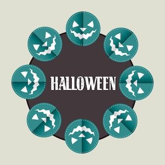 Disegno della zucca di halloween con lo spazio del testo