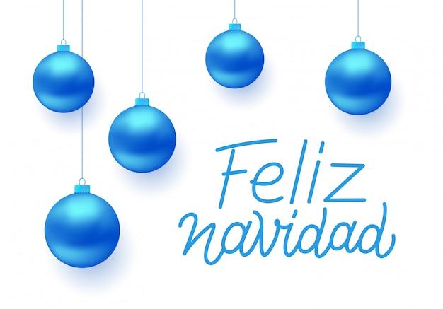 Disegno di auguri vettoriale feliz navidad