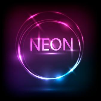 Disegno di banner al neon cirlce.