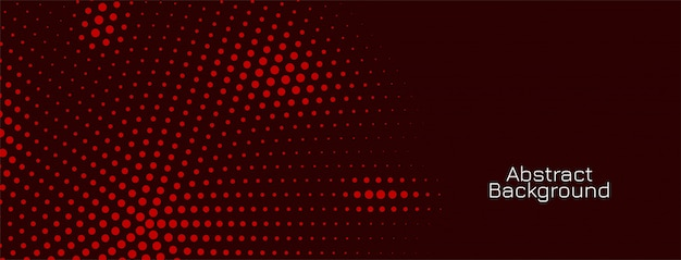 Disegno di banner scuro modello mezzetinte rosso