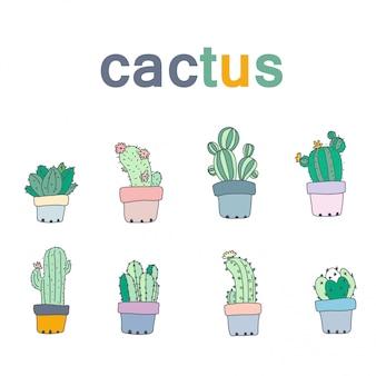 Disegno di cactus del vettore