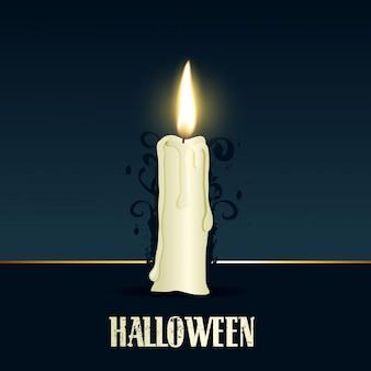 Disegno di candela accesa per halloween