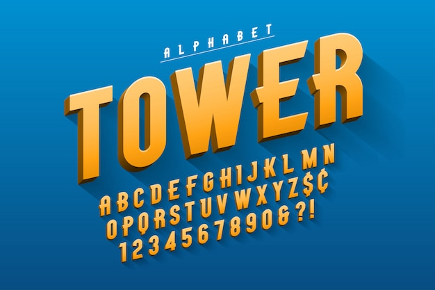 Disegno di carattere display condensato originale di vettore, alfabeto