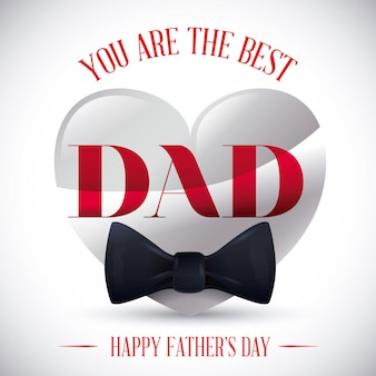 Disegno di carta felice giorno di padri.