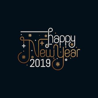 Disegno di cartolina d'auguri di felice anno nuovo