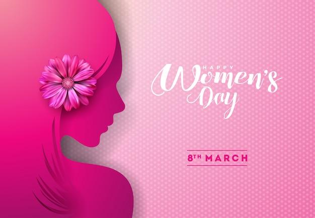 Disegno di cartolina d'auguri di giorno delle donne