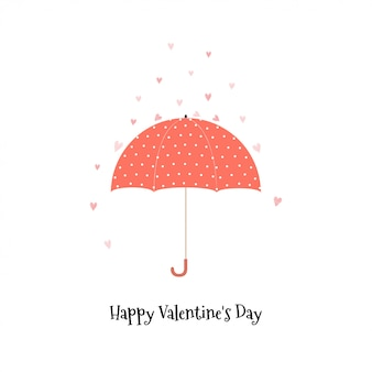 Disegno di cartolina d'auguri di san valentino felice