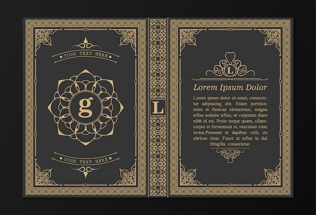 Disegno di copertina del libro ornamentale