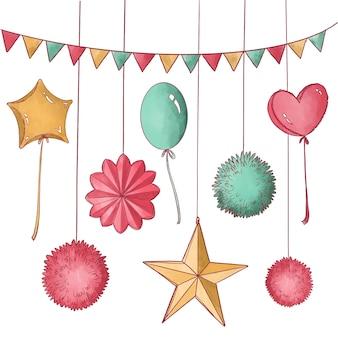 Disegno di decorazione di compleanno