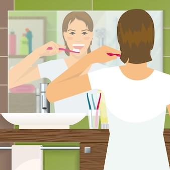 Disegno di denti di spazzolatura