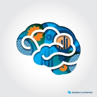 Disegno di figura del cervello sfondo