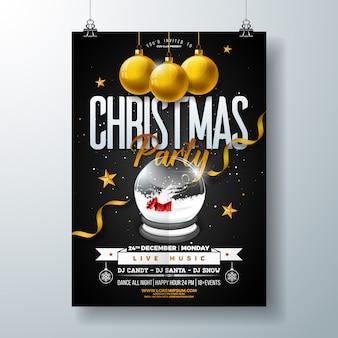 Disegno di Flyer di festa di Natale Merry
