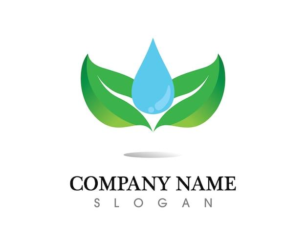 Disegno di foglia di albero logo, concetto ecologico.