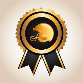 Disegno di football americano