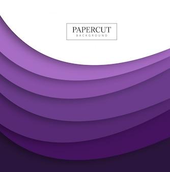 Disegno di forma d'onda colorato di papercut astratto