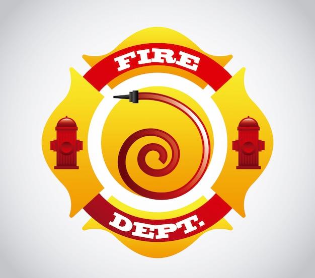 Disegno di icone di fuoco