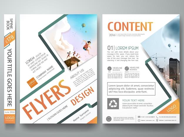 Disegno di layout di portfolio poster forma astratta